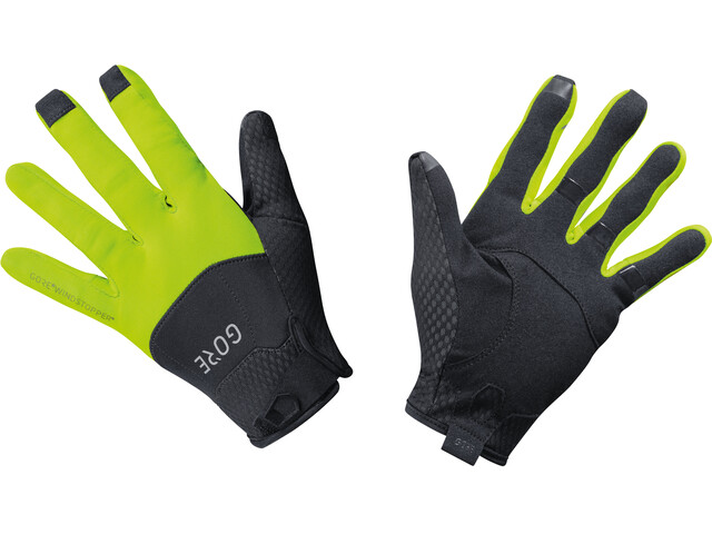 GORE WEAR C5 Windstopper Gloves black/neon yellow